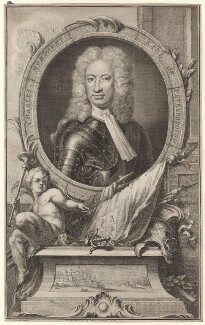 Charles Mordaunt, 3rd Earl of Peterborough, by Jacobus Houbraken, after  Sir Godfrey Kneller, Bt, published by  John & Paul Knapton, circa 1740 - NPG D31408 - © National Portrait Gallery, London