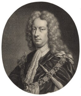 Charles Spencer, 3rd Earl of Sunderland, by Jacobus Houbraken, published by  John & Paul Knapton, possibly after  Sir Godfrey Kneller, Bt - NPG D31409
