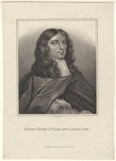 Henry Hyde, 2nd Earl of Clarendon, by E. Bocquet, published by  John Scott, after  Sir Peter Lely - NPG D31410