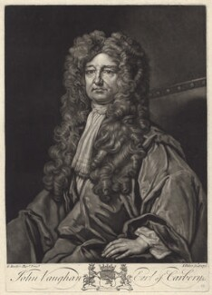 John Vaughan, 3rd Earl of Carbery, by John Faber Jr, after  Sir Godfrey Kneller, Bt - NPG D31417