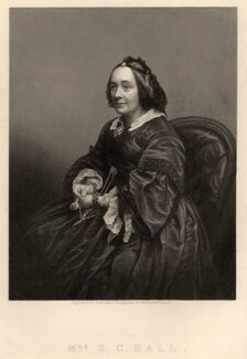 Anna Maria Hall (née Fielding), by Daniel John Pound, published by  Illustrated News of the World, after a photograph by  John & Charles Watkins - NPG D9278