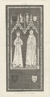 Tomb of Sir John Cassy and his Lady (Sir John Cassy; Alicia, Lady Cassy), by Samuel Lysons - NPG D33230