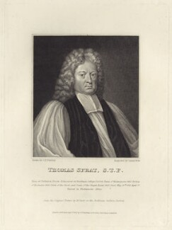 Thomas Sprat, by James Stow, published by  George Perfect Harding, after  Michael Dahl - NPG D31424