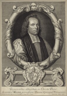 John Moore, by Robert White, published by  John Carwitham - NPG D31434