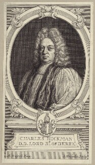 Charles Hickman, by Simon Gribelin, after  Anthony Russell - NPG D31457