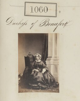 Emily Frances (née Smith), Duchess of Beaufort, by Camille Silvy - NPG Ax50572
