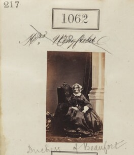 Emily Frances (née Smith), Duchess of Beaufort, by Camille Silvy - NPG Ax50574