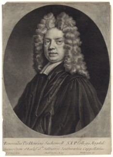 Henry Sacheverell, by Andrew Johnston, published by  Philip Overton, after  Thomas Gibson - NPG D31483