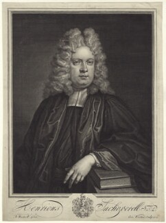 Henry Sacheverell, by George Vertue, after  Anthony Russel - NPG D31484