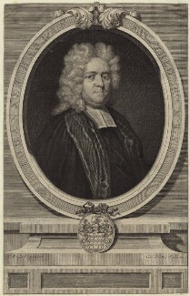 John Harris, by George Vertue, after  Anthony Russel - NPG D31487