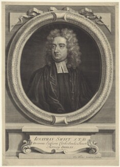 Jonathan Swift, by George Vertue, after  Charles Jervas - NPG D31511