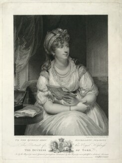 Frederica Charlotte Ulrica Catherina, Duchess of York and Albany, by and published by Charles Knight, and published by  Random and Stainbank, after  Sir William Beechey - NPG D33227