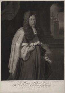 Sir Henry Hatsell, by John Gisborne, after  Sir Godfrey Kneller, Bt - NPG D31524