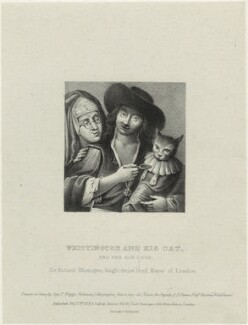 Richard ('Dick') Whittington ('Whittington and his cat, and the old cook'), by Filippo Pistrucci, published by  Charles Tilt - NPG D33246