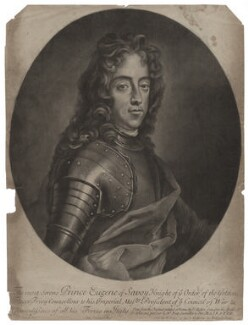 Prince Eugène of Savoy, by John Simon, after  David Richter I, published by  Edward Cooper, early 18th century - NPG D31528 - © National Portrait Gallery, London