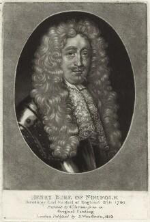 Henry Howard, 6th Duke of Norfolk, by Charles Turner, published by  Samuel Woodburn, after  Unknown artist - NPG D33249