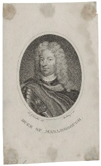 John Churchill, 1st Duke of Marlborough, by Mackenzie, after  Sir Godfrey Kneller, Bt - NPG D31541