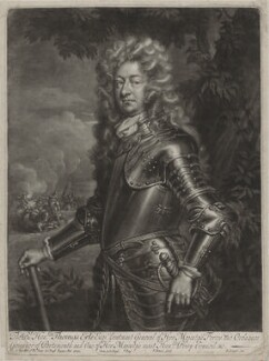 Thomas Erle, by John Simon, after  Sir Godfrey Kneller, Bt, published by  Edward Cooper - NPG D31545