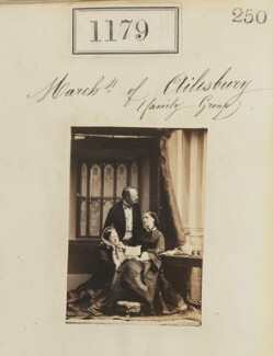 'Marchioness of Ailesbury family group' (Mary Caroline (née Herbert), Marchioness of Ailesbury; George William Frederick Brudenell-Bruce, 2nd Marquess of Ailesbury; possibly Countess Henrietta Louisa Elizabeth Danneskjold-Samsöe), by Camille Silvy - NPG Ax50637