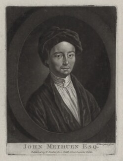 John Methuen, by William Humphrey, published by  William Richardson - NPG D31553