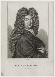 Sir William Read, by R. Grave, after  William Faithorne - NPG D31558
