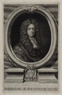 John Freke, by George Vertue, after  John Riley - NPG D31564