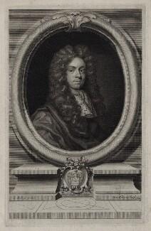 John Freke, by George Vertue, after  John Riley - NPG D31565