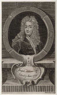 Joseph Addison, by Edward Rooker, after  Sir Godfrey Kneller, Bt - NPG D27304