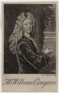 William Congreve, by Michael Vandergucht, after  Sir Godfrey Kneller, Bt, published 1718 (1709) - NPG D27306 - © National Portrait Gallery, London