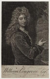 William Congreve, after Sir Godfrey Kneller, Bt, mid 18th century - NPG D27307 - © National Portrait Gallery, London