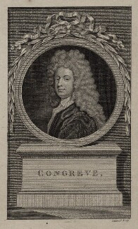 William Congreve, by James Caldwall, after  Sir Godfrey Kneller, Bt, late 18th to early 19th century - NPG D27309 - © National Portrait Gallery, London
