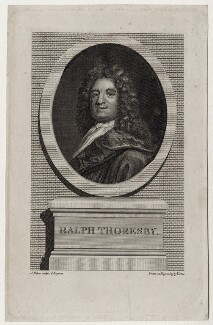 Ralph Thoresby, by J. Baker, after  George Vertue, after  James Parmentier - NPG D27320