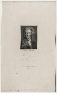 Sir Isaac Newton, by Edward A. Smith, after  Sir Godfrey Kneller, Bt - NPG D27325