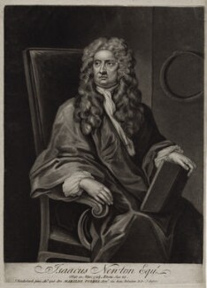 Sir Isaac Newton, by John Faber Jr, after  John Vanderbank - NPG D27329