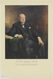 Winston Churchill, published by The Times Publishing Company Limited, after  Sir Oswald Birley - NPG D33257