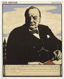 Winston Churchill, by Robert Sargent Austin, printed by  The Baynard Press - NPG D33259