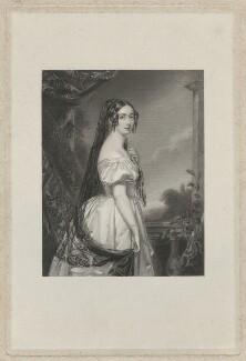 Harriet de Burgh (née Canning), Marchioness of Clanricarde, by T.W. Knight, after  John Lucas - NPG D33263