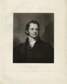 Peter Clare, by Henry Cousins, after  William Bradley - NPG D33266