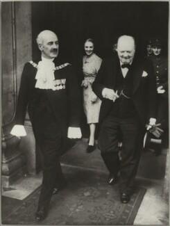 Sir Samuel George Joseph, 1st Bt; Winston Churchill, copy by Bassano & Vandyk Studios - NPG x174561