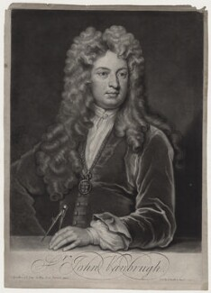 Sir John Vanbrugh, by and published by John Smith, after  Sir Godfrey Kneller, Bt - NPG D27350
