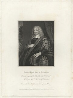 Edward Hyde, 1st Earl of Clarendon, by Robert Cooper, after  Sir Peter Lely - NPG D33268