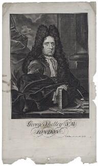 George Shelley, by George Bickham the Elder - NPG D27360
