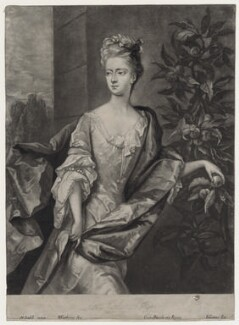 Lady Katherine Hyde, by William Faithorne Jr, after  Michael Dahl, published by  Edward Cooper - NPG D27364