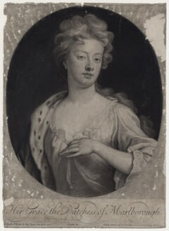Sarah Churchill (née Jenyns (Jennings)), Duchess of Marlborough, by and published by John Smith, after  Sir Godfrey Kneller, Bt - NPG D27368