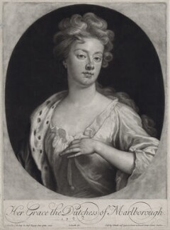 Sarah Churchill (née Jenyns (Jennings)), Duchess of Marlborough, by and published by John Smith, after  Sir Godfrey Kneller, Bt, 1705 (1705) - NPG D27369 - © National Portrait Gallery, London