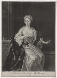 Sarah Churchill (née Jenyns (Jennings)), Duchess of Marlborough, by John Faber Jr, after  Sir Godfrey Kneller, Bt, published by  Robert Sayer - NPG D27371