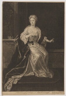 Sarah Churchill (née Jenyns (Jennings)), Duchess of Marlborough, by John Faber Jr, after  Sir Godfrey Kneller, Bt, published by  Robert Sayer - NPG D27372