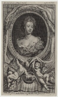 Sarah Churchill (née Jenyns (Jennings)), Duchess of Marlborough, by John Sebastian Miller (formerly Johann Sebastian Müller), after  Sir Godfrey Kneller, Bt - NPG D27376