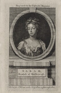 Sarah Churchill (née Jenyns (Jennings)), Duchess of Marlborough, after Sir Godfrey Kneller, Bt, published by  John Hinton - NPG D27377
