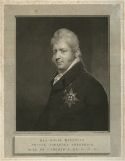 Prince Adolphus Frederick, Duke of Cambridge, by and published by William Skelton, after  Sir William Beechey, published 1808 - NPG D33284 - © National Portrait Gallery, London